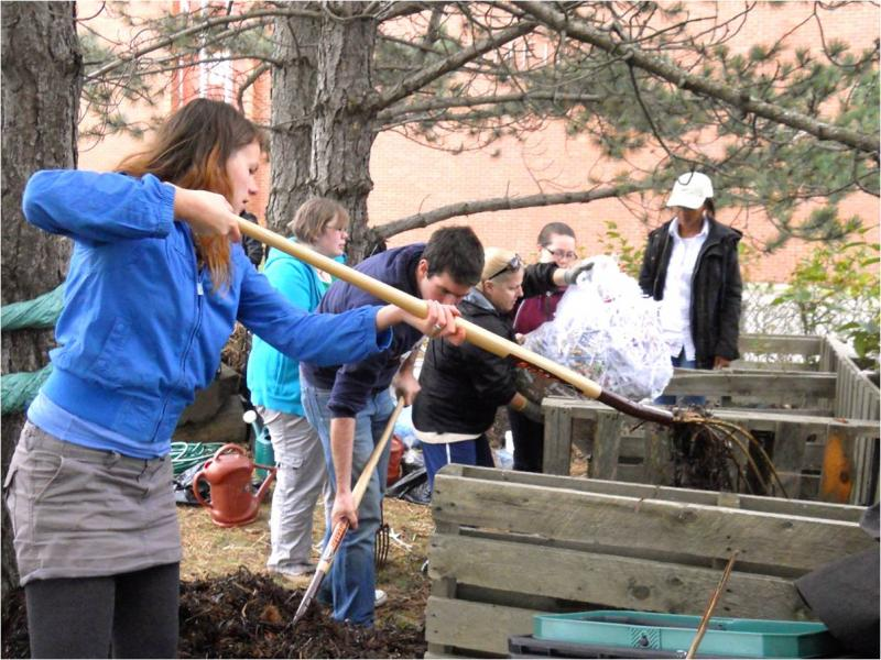 Teaching Youth about compost and soil building